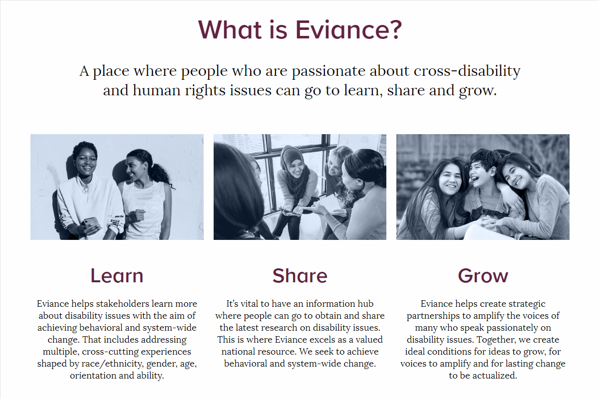 Eviance Website