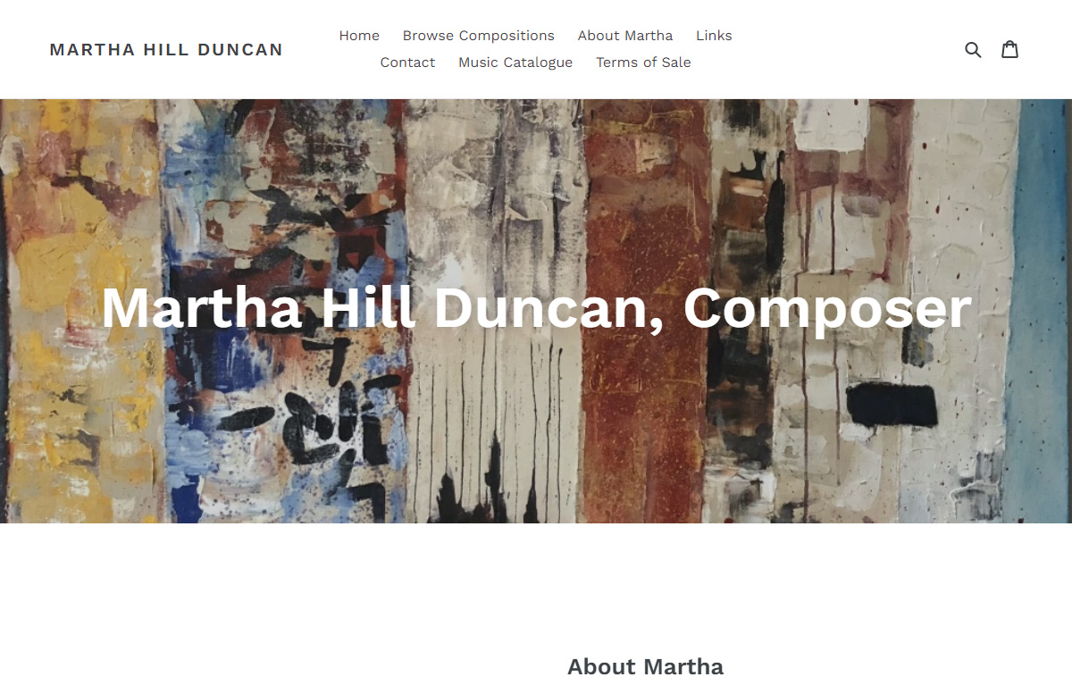 Martha Hill Duncan Landing Page